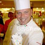 Chef demonstrated the Italian traditional recipe of making Gelato