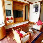 The interior of suites living room