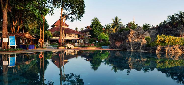 Legend Cherating Resort at sunset