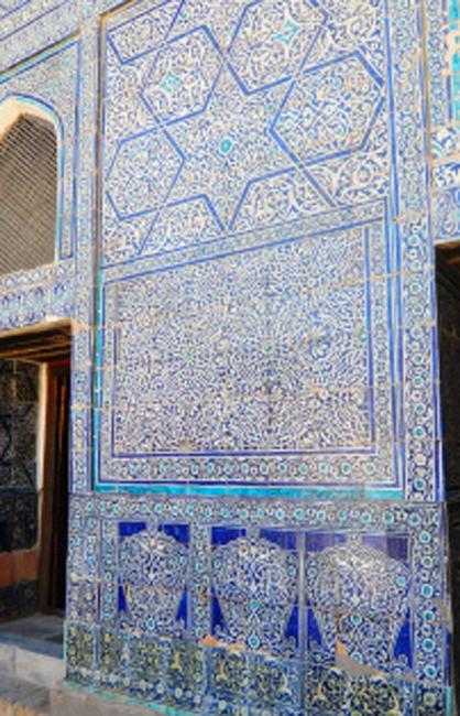 Exquisite tileworks in Tash Hovli, a former harem