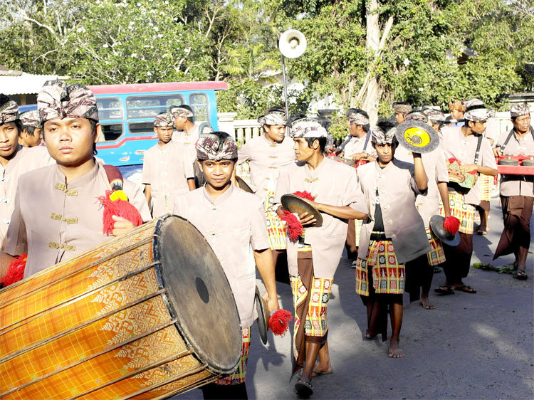The Traditional wedding ceremony of the Sasak Tribe