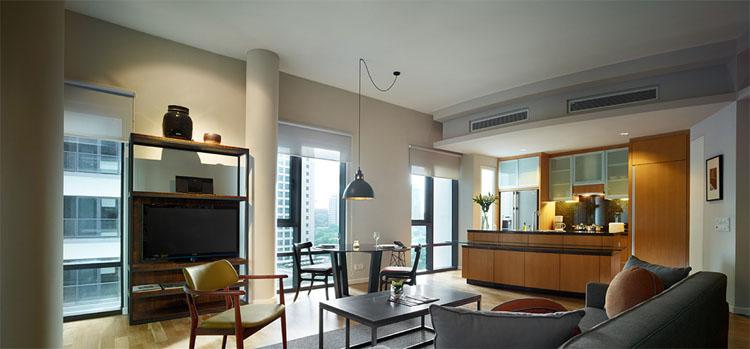 Very modern and elegant interior of E & O Residences, Kuala Lumpur