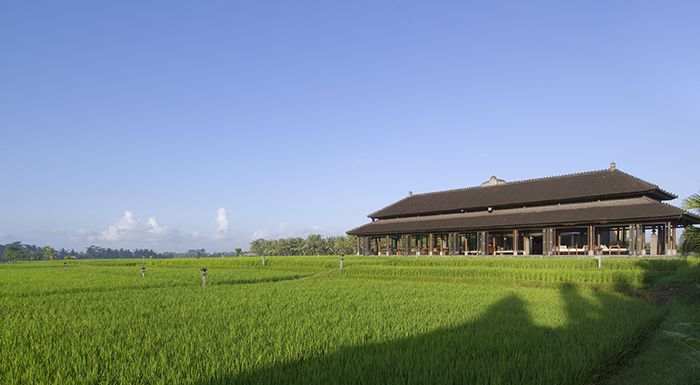 Chedi Ubud Bali Restaurant Exterior