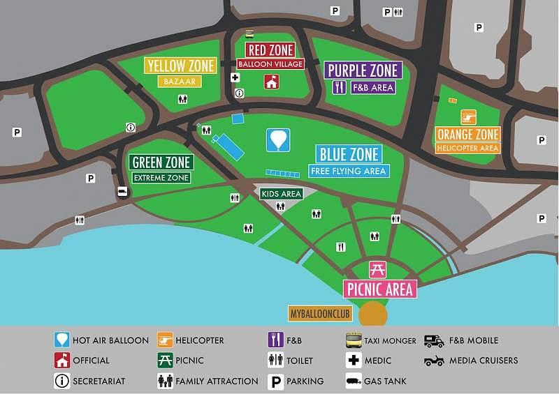 Layout The 7th Putrajaya International Hot Air Balloon Fiesta 2015