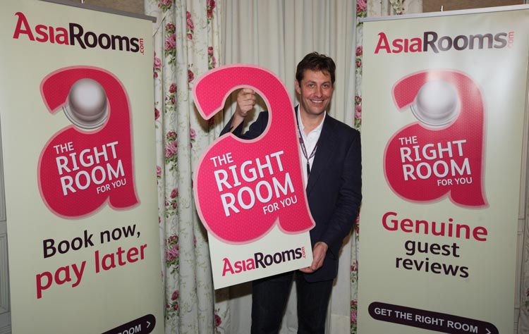 Andrew Pumphrey, Managing Director of AsiaRooms.com launching the 'Right Room for You' campaign