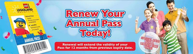 Legoland® Malaysia Offers Annual Pass Renewal Promotion