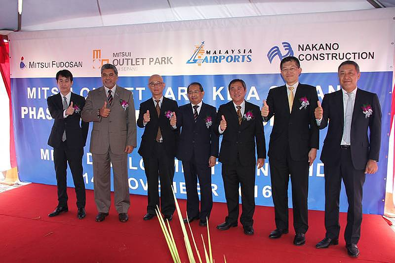 Ground Breaking Ceremony Marks Commencement of Works on Phase 2 of Mitsui Outlet Park KLIA Sepang
