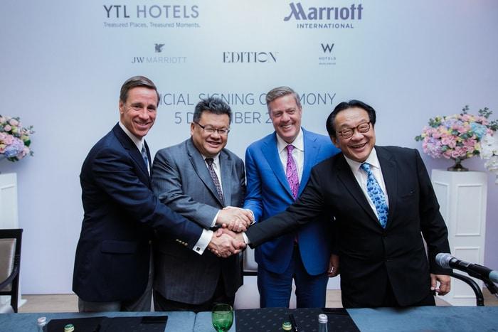 Marriott International and YTL Hotels