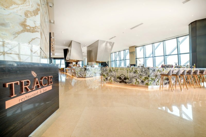 Dining 40 floors Above the Ground at TRACE Restaurant And Bar