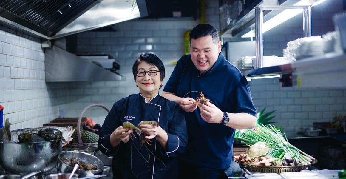 Benjamin Yong, the Chief Eating Officer of The BIG Group with celebrity chef, Violet Oon