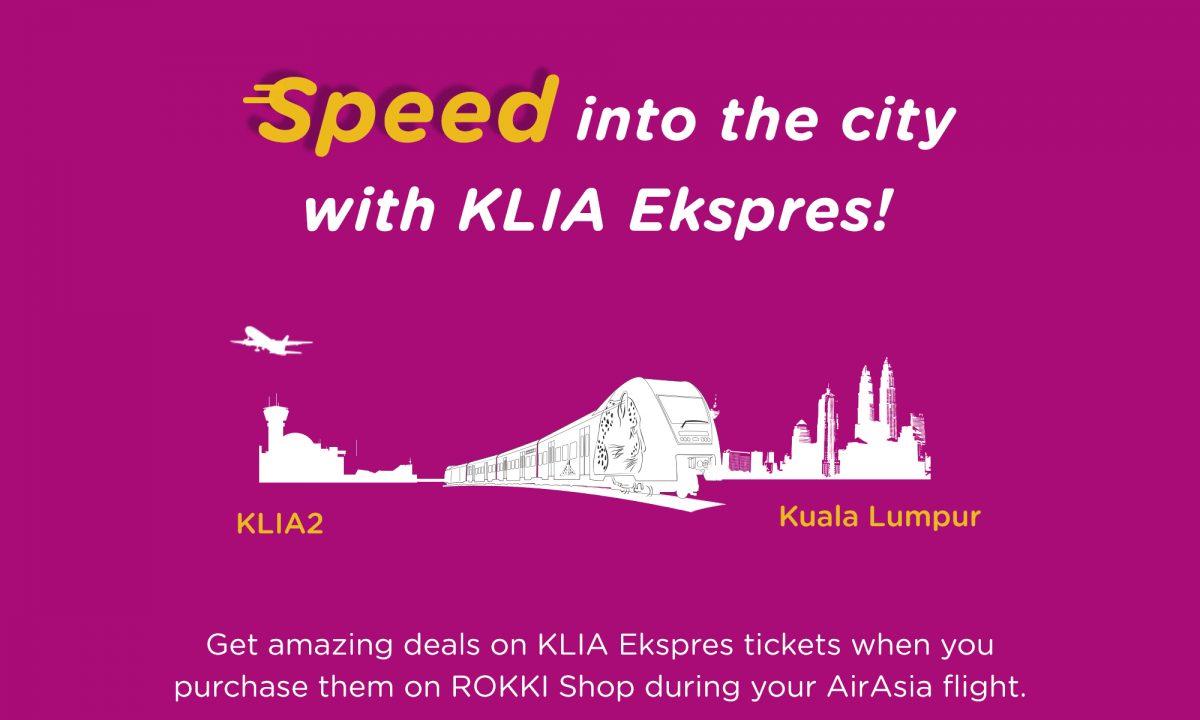 Enjoy Low Fares from KLIA Ekspres