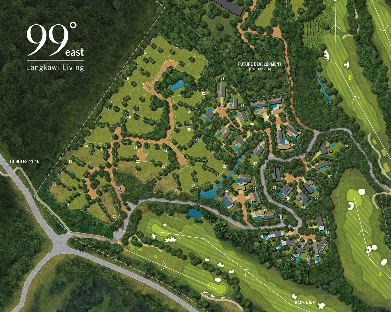 2. Forest Village masterplan at 99º
