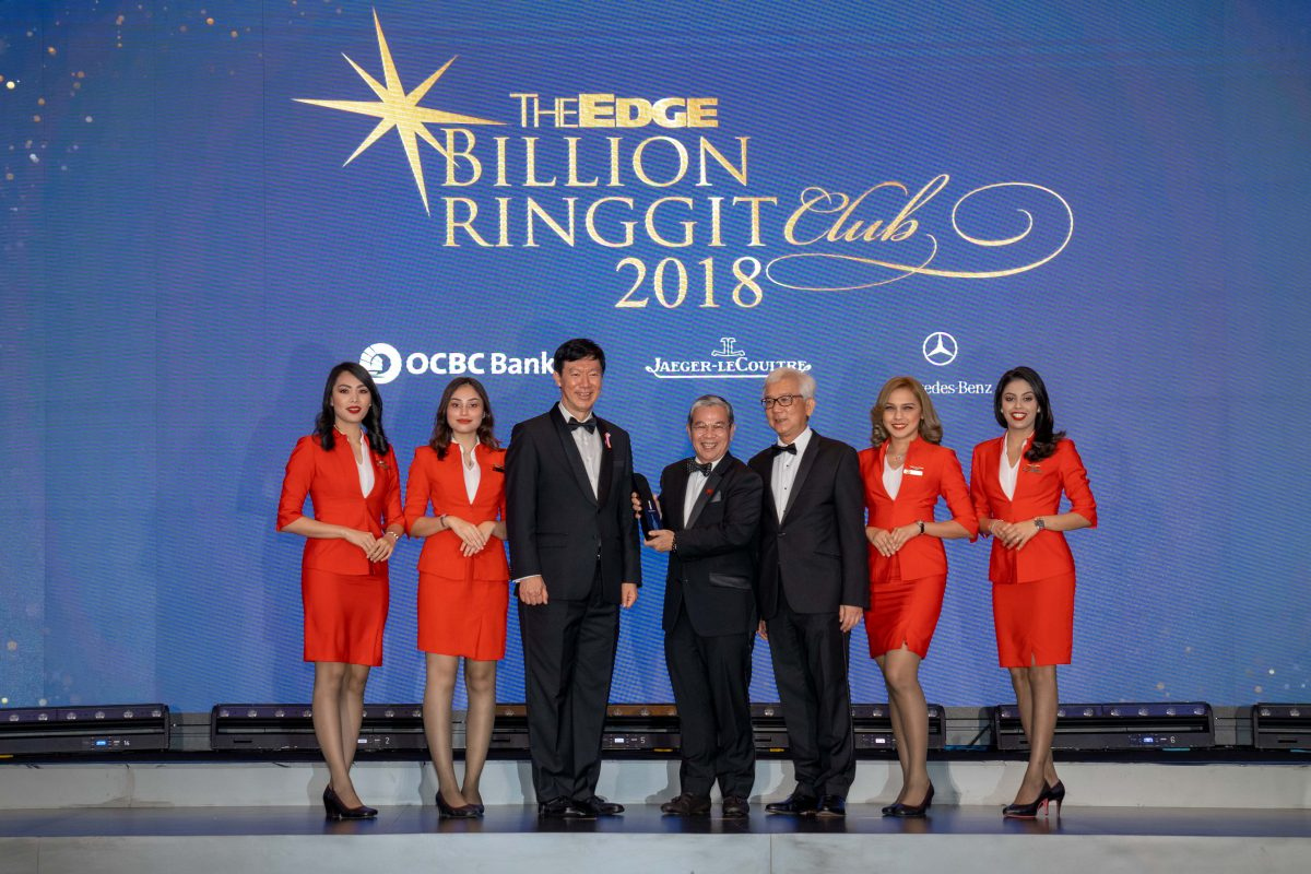 AirAsia Wins Two Awards at the The Edge Billion Ringgit Club 2018