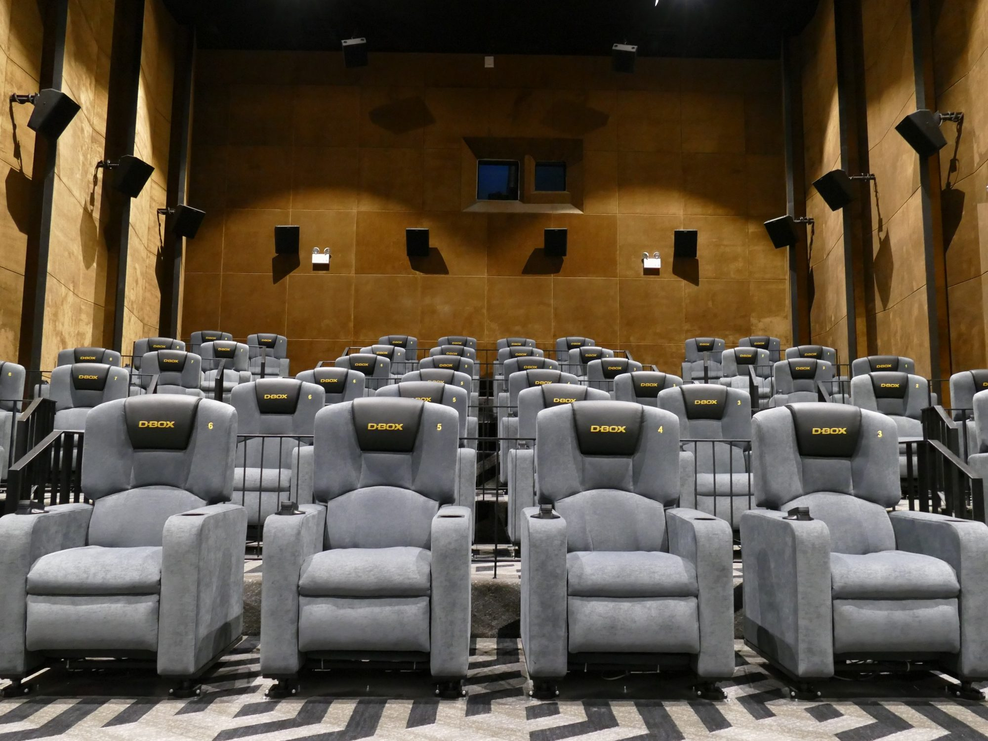 The interior of the Gold Class with D-BOX hall at Bona Cinemas