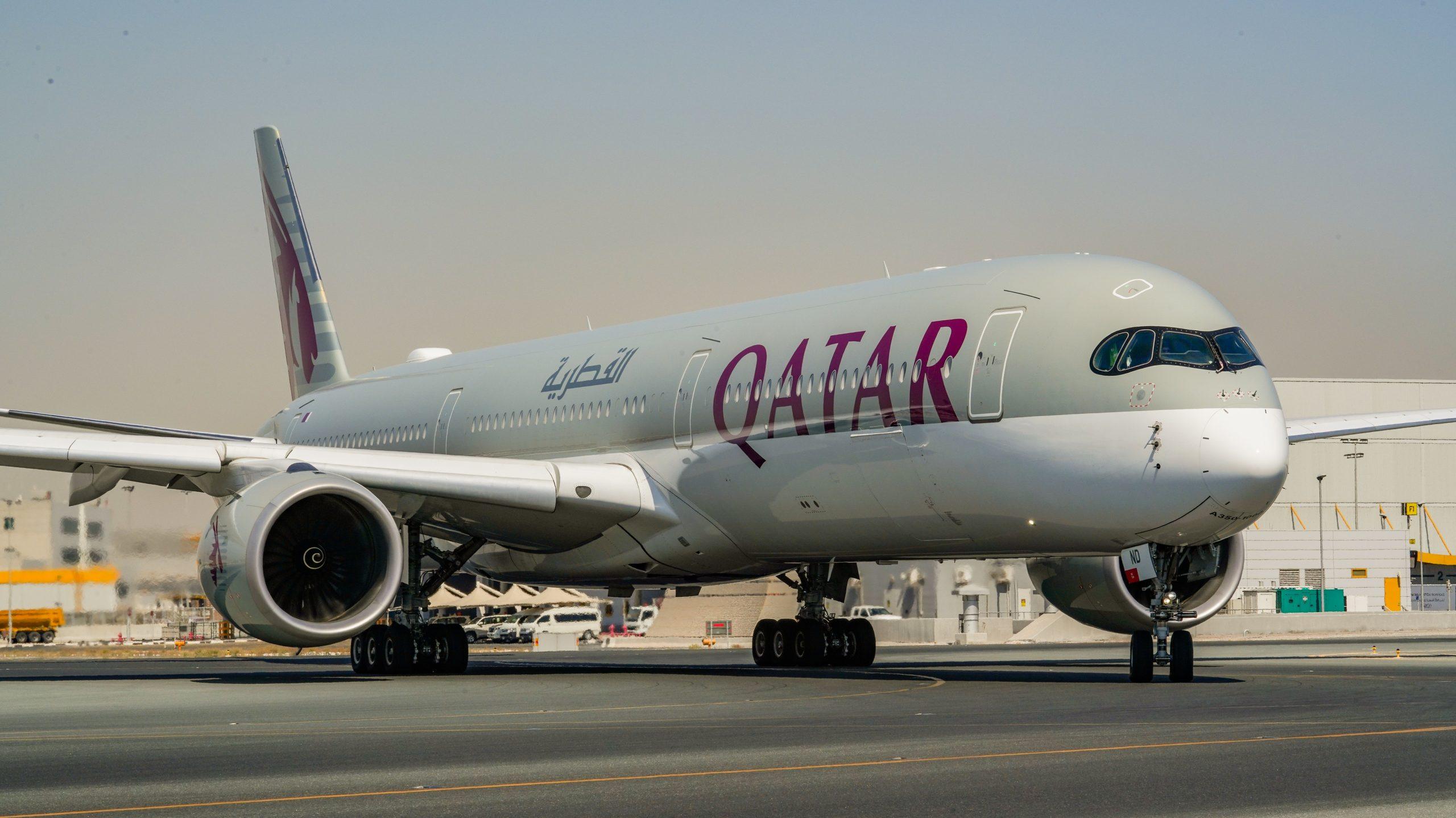 Airbus A350-1000 Aircraft by Qatar Airways
