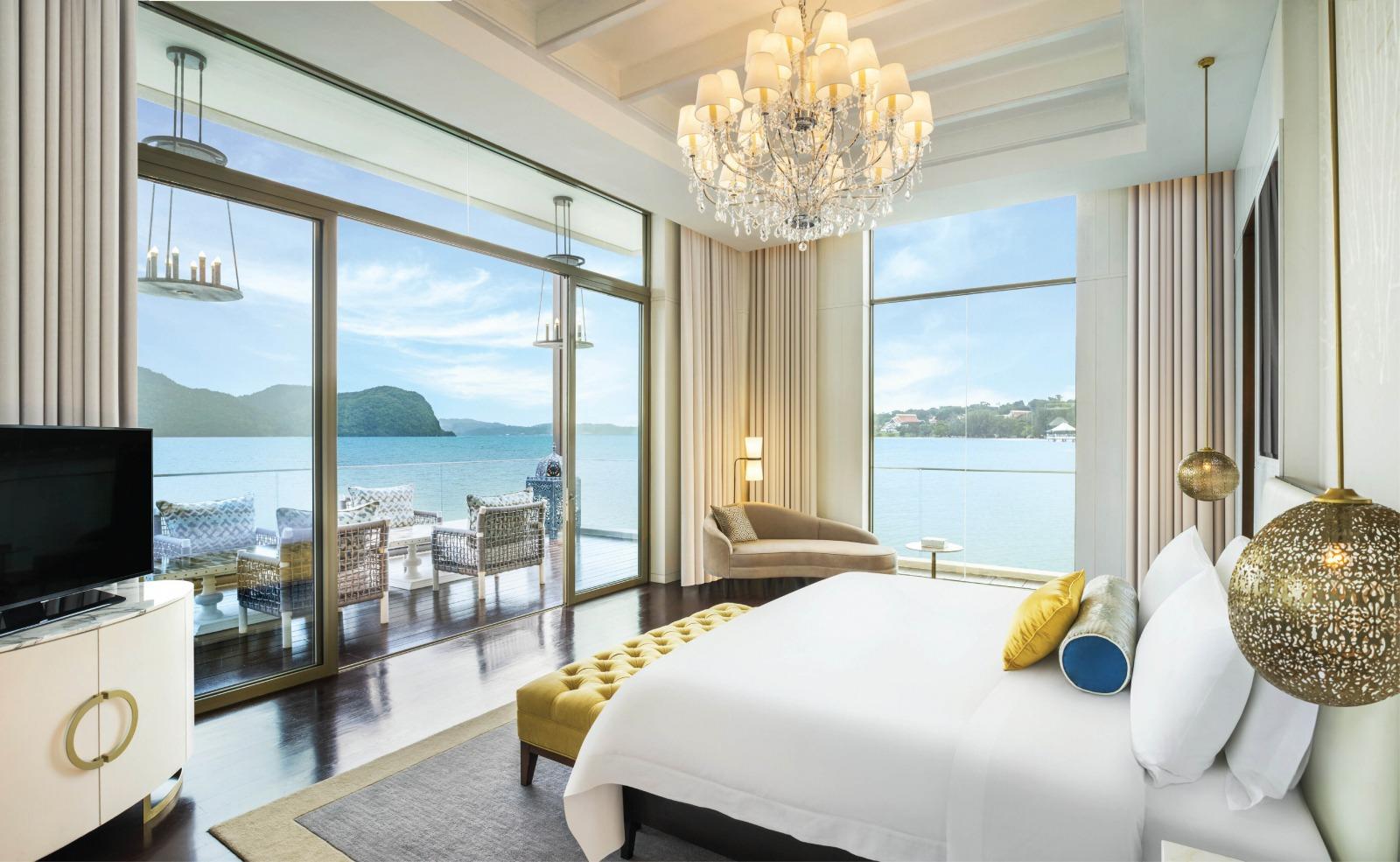 Sunset Royal Villa Master Bedroom at The St. Regis Langkawi
