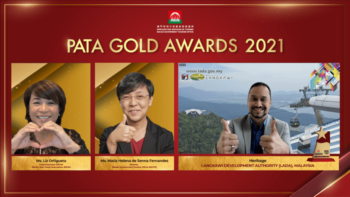 Langkawi Development Authority (LADA) receives PATA Gold Award for the Heritage category.