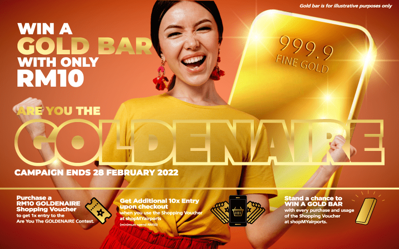 Celebrate shopMYairports' First Birthday and Win an Exclusive KLIA-Designed 200g Gold Bar
