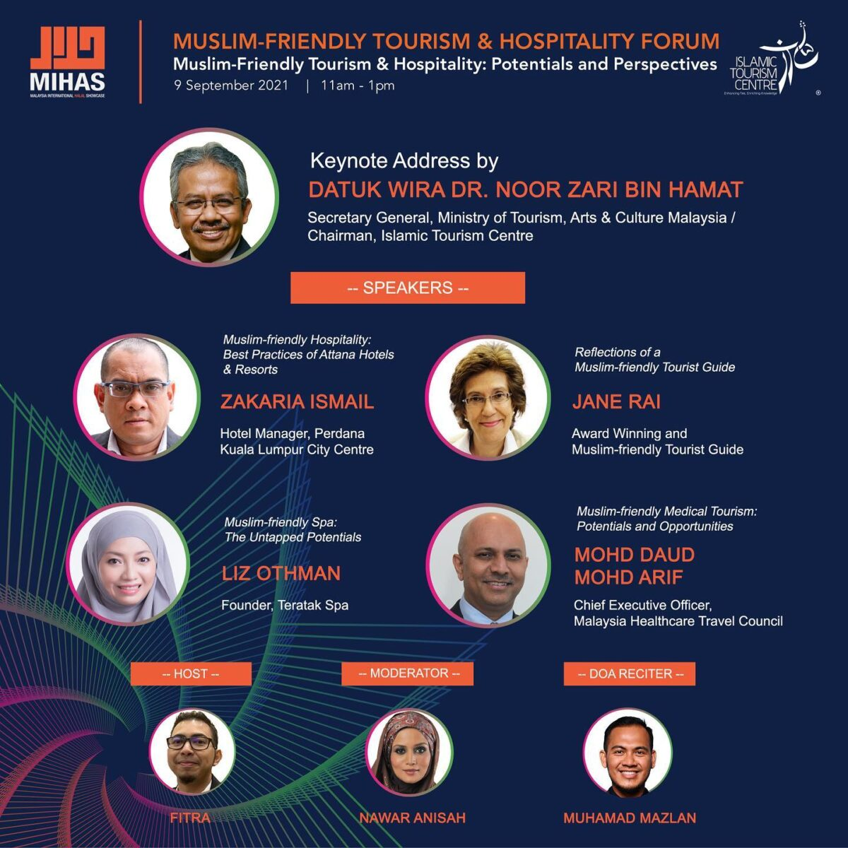 Panelists of the Muslim-friendly Tourism & Hospitality Forum organised by ITC at the 17th MIHAS Malaysia.