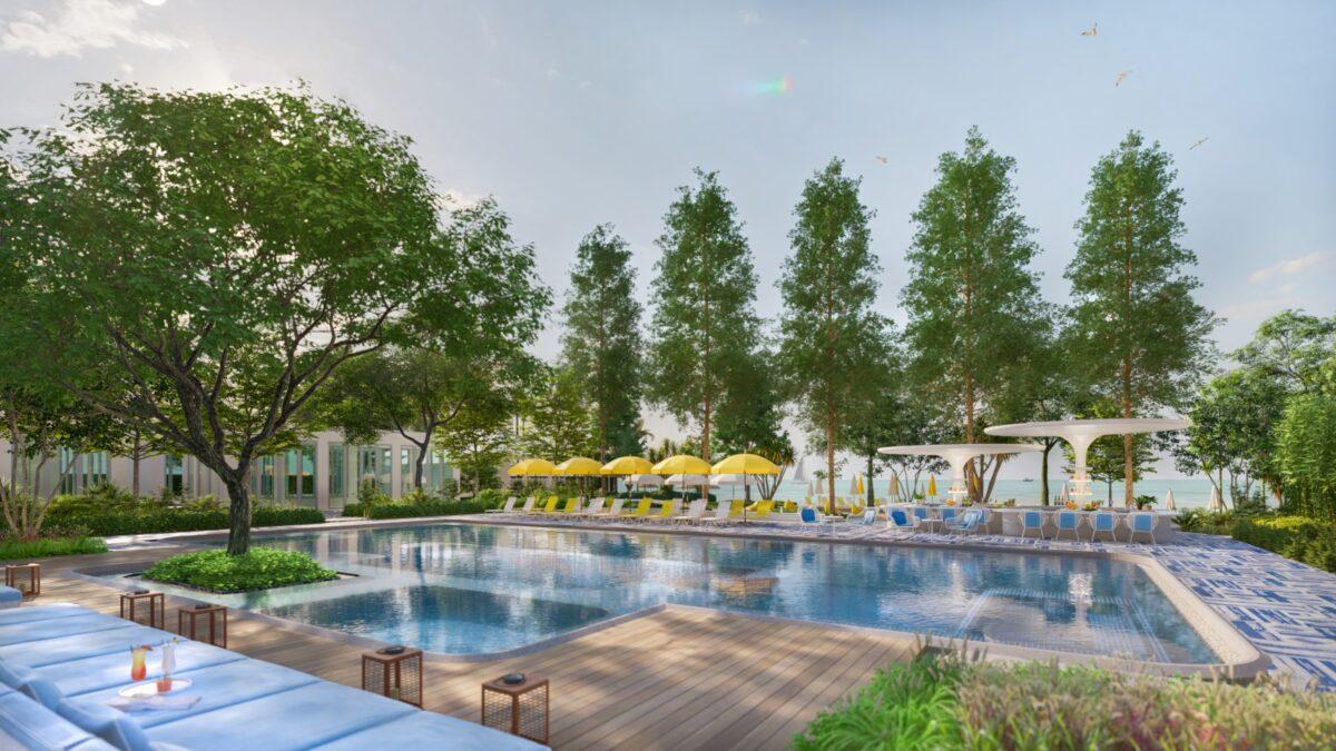The pool of The Standard, Hua Hin