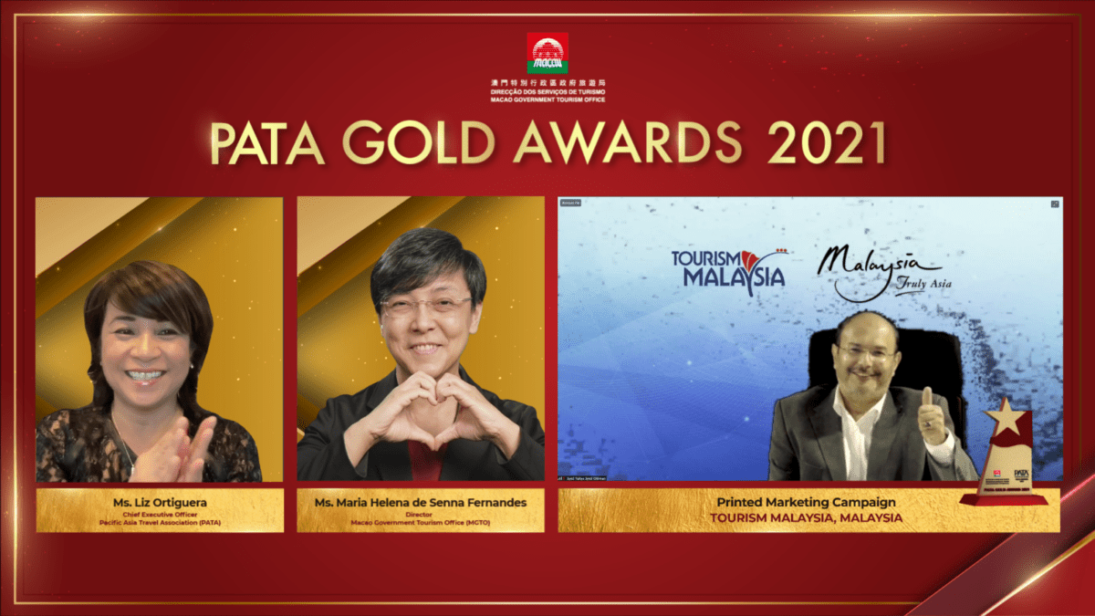 Tourism Malaysia receives PATA Gold Award for the Print Marketing Campaign category
