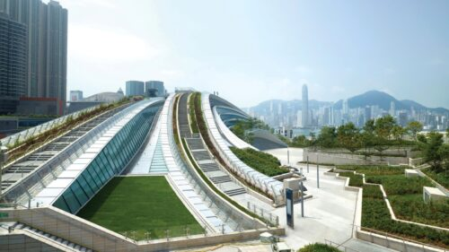 West Kowloon Sky Corridor Sightseeing Deck (© Hong Kong Tourism Board)